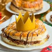 Roscón de Reyes de hojaldre y chocolate