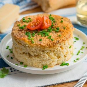pastel al horno de rape y queso