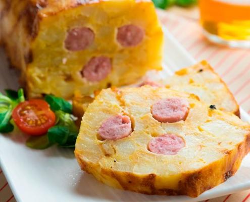 pastel de tortilla al horno