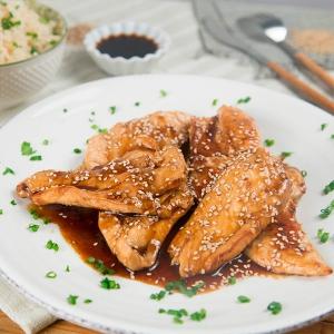 pollo estilo oriental con aceite de sesamo