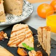 bizcocho de naranja, aceite y canela en olla