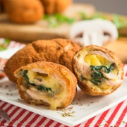 rollitos de pavo con queso y verduras