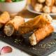 canelones crujientes de brandada de merluza