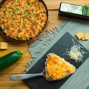 Pastel de calabacín y salmón