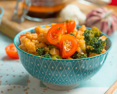 Ensalada de coliflor y brócoli