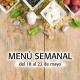 Menú Semanal del 18 al 22 Mayo