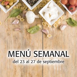 Menú semanal del 23 al 27 de septiembre