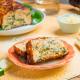 Pastel de calabacín, queso y bacon