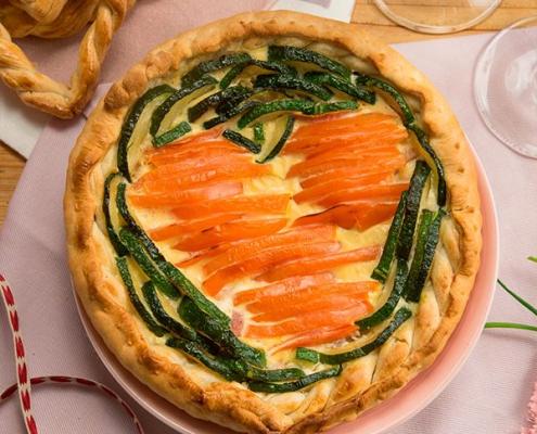 Tarta de San Valentín salada
