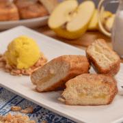 Torrijas rellenas de manzana