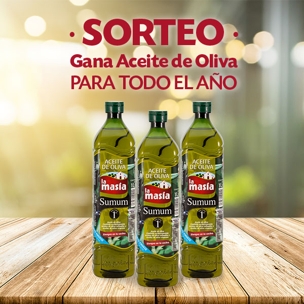 sorteo 1 año de aceite de oliva la masia