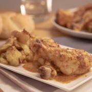 Pollo al horno con yogur y especias