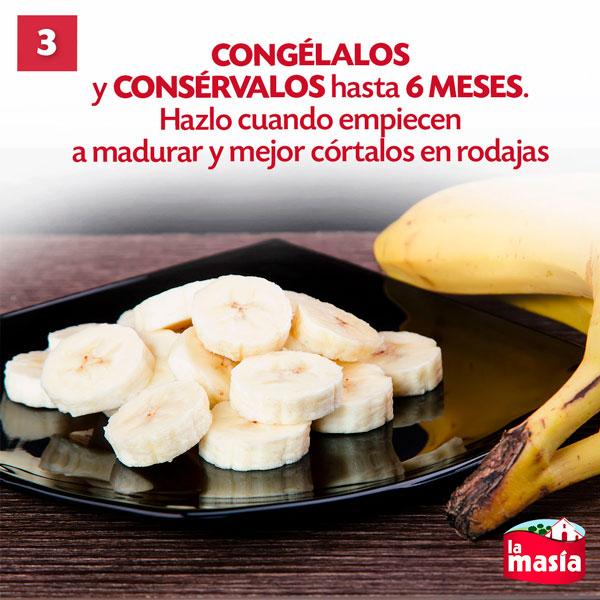 Trucos de cocina con plátano