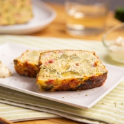 Pastel de calabacín, brócoli y bacon