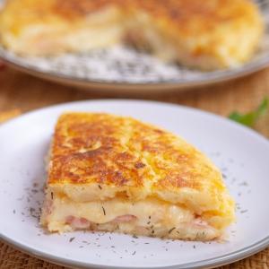 Tortilla de patatas estilo sándwich