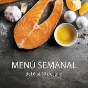 menú semanal del 6 al 10 de julio