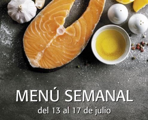 menu semanal del 13 al 17 de julio