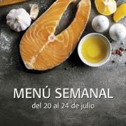 menú semanal del 20 al 24 de julio