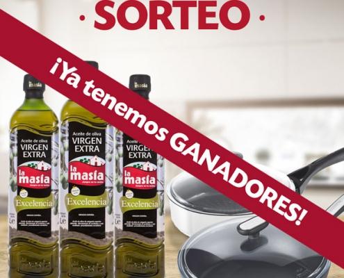 ganadores Sorteo La Masía & Pyrex