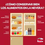 Cómo conservar los alimentos en la nevera