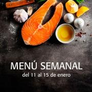 menú semanal del 11 al 15 de enero