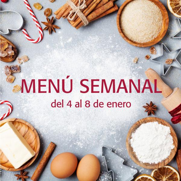 menú semanal del 4 al 8 de enero