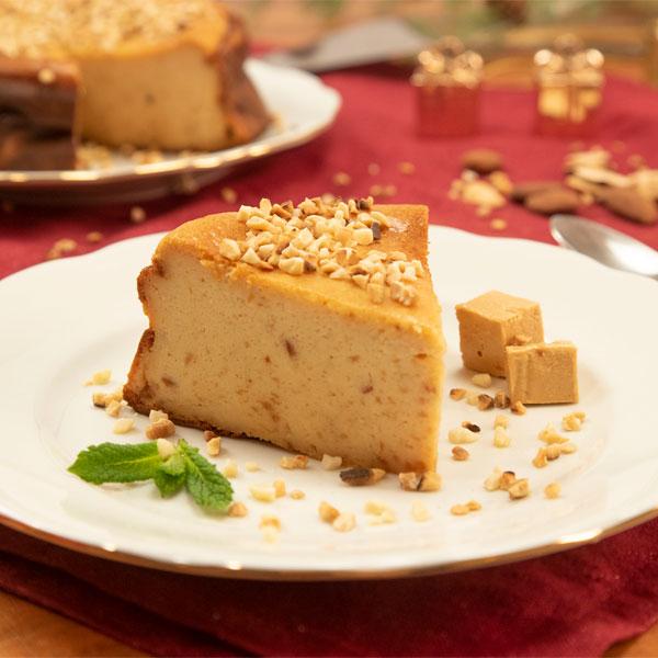 Tarta de queso y turrón