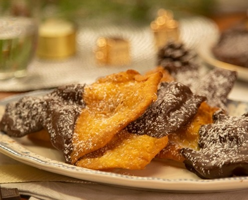 Orejas de Navidad con chocolate
