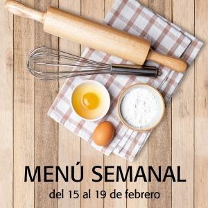 Menú semanal del 15 al 19 de febrero