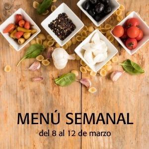 menú semanal del 8 al 12 de marzo