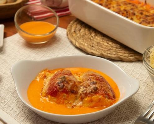 Pimientos rellenos de queso crema y atún