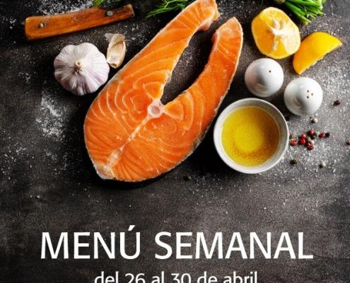 menú semanal del 26 al 30 de abril