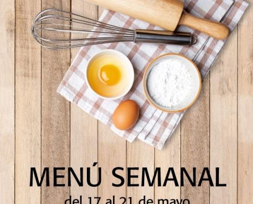 menú semanal del 17 al 21 de mayo