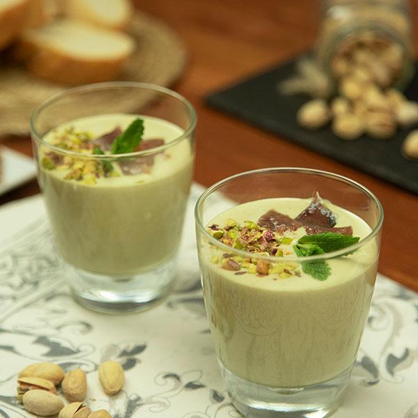 ajoblanco de pistachos