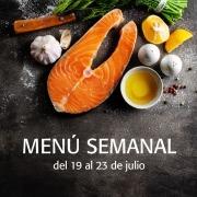 menú semanal del 19 al 23 de julio