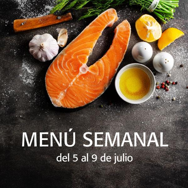 menú semanal del 5 al 9 de julio