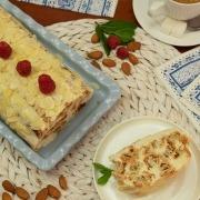 Tarta fría de hojaldre y crema