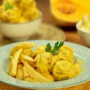 Albóndigas de pollo en salsa de calabaza