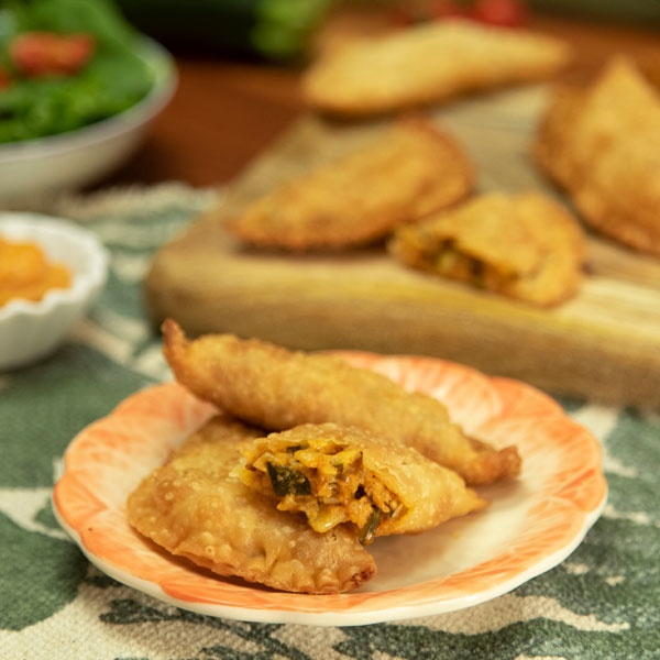 Empanadillas de calabacín y puerro