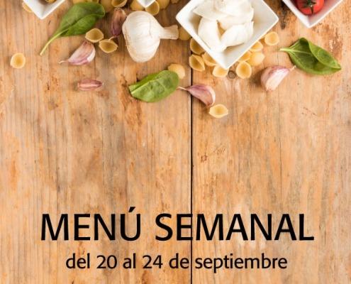 menú semanal del 20 al 24 septiembre