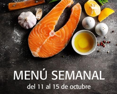 menú semanal del 11 al 15 de octubre